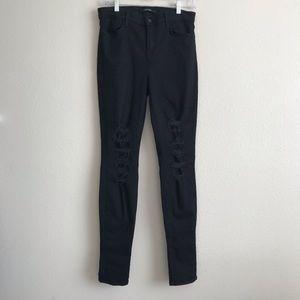 J Brand | Distressed Maria High Rise Jeans